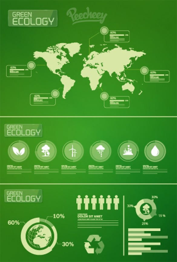 ecology infographic elements free download