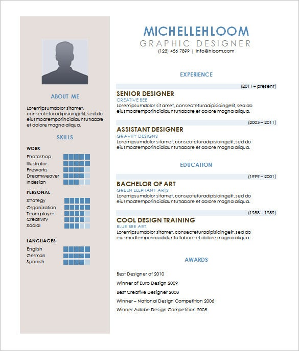 contemporary resume word template download - Resume Excel Format Free Download