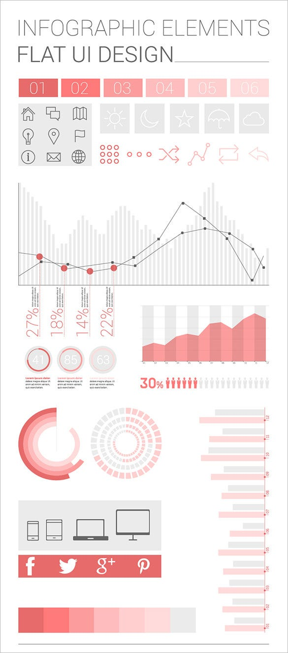awesomr free infographic elements template download