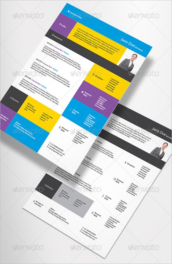 indesign contemporary resume template - Free Contemporary Resume Templates