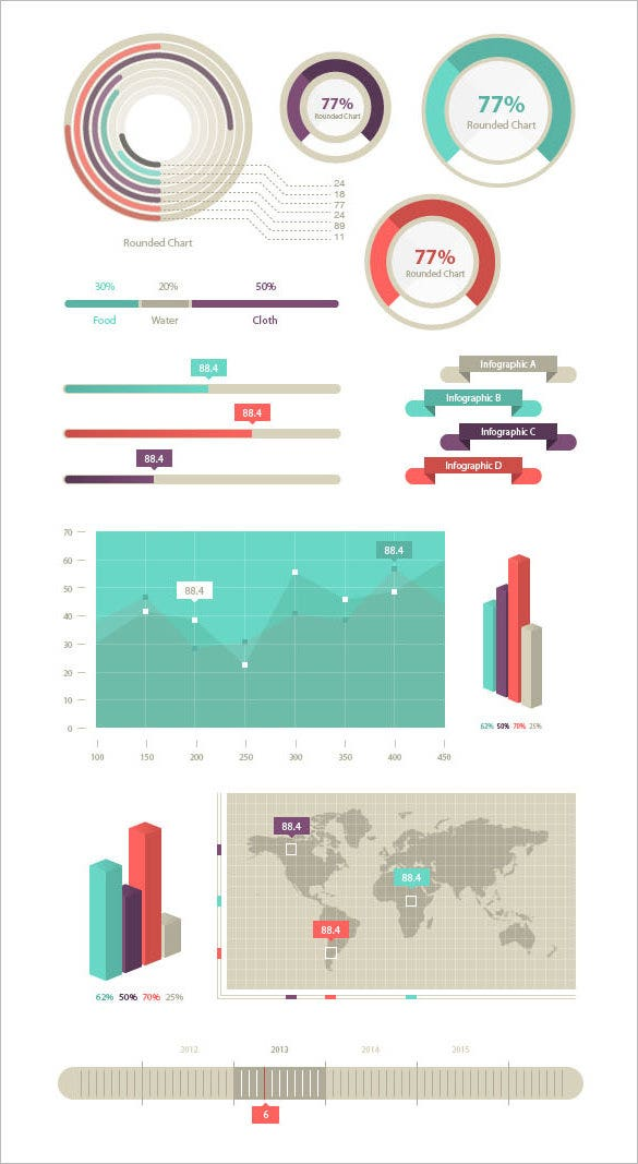 infographic elements template for free download