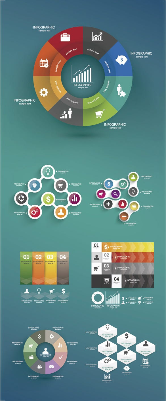 free vector infographic design template download