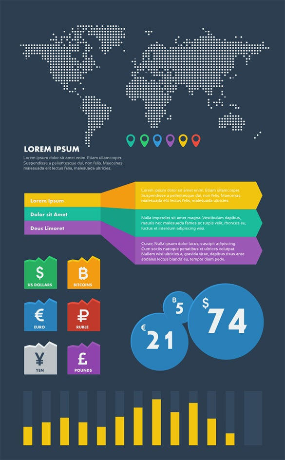 financial infographic graphic element template