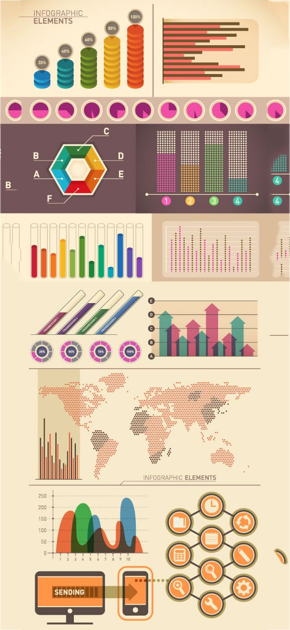 vintage infographic elements template download