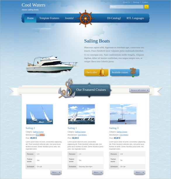 Cool Water Joomla Template