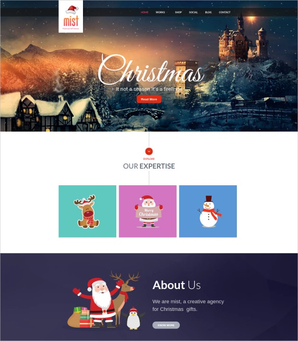 Christmas Festival WordPress Template