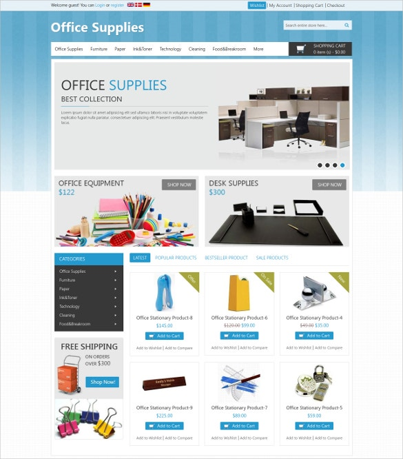 Office Stationary Magento Theme
