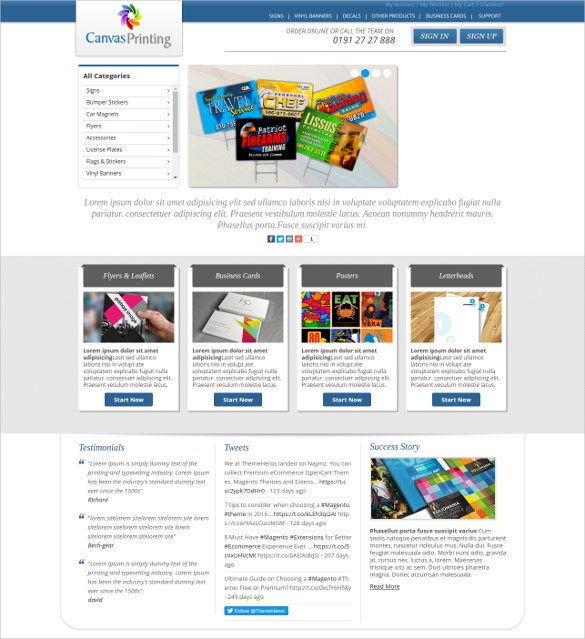 Printing & Stationary Magento Theme