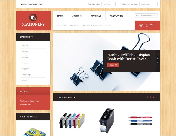 Education Stationary Magento Theme