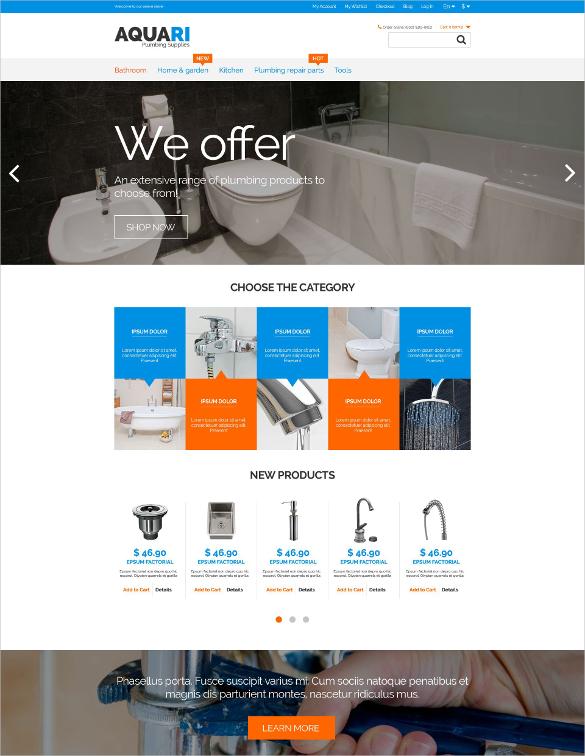Plumbing Store Magento Theme