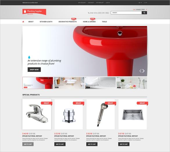 Plumbing Shop Magento Theme