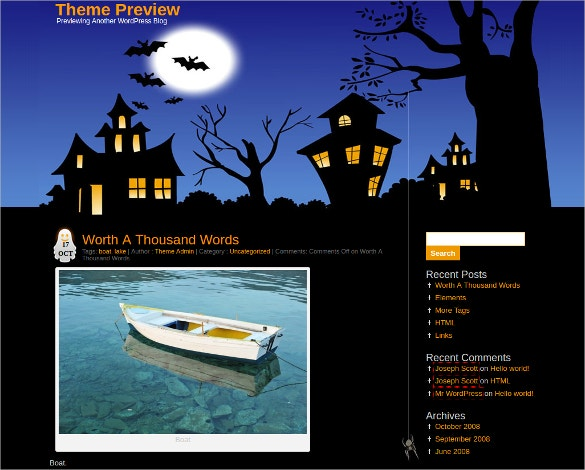 Halloween Design WordPress Theme