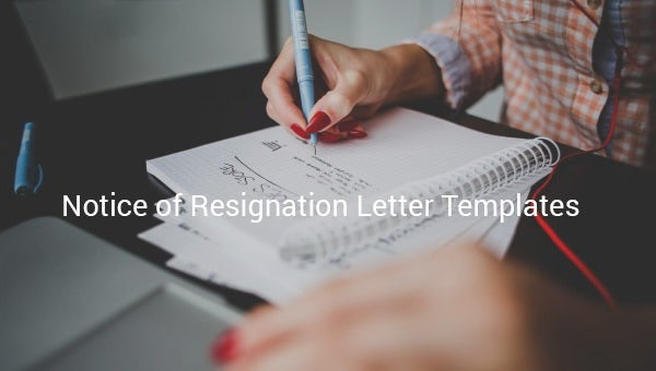 notice of resignation letter template1