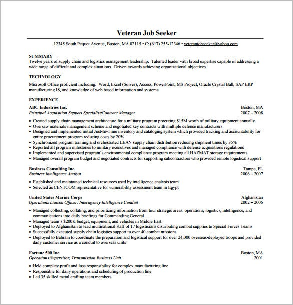 Busines Consultant Resume Pdf Template