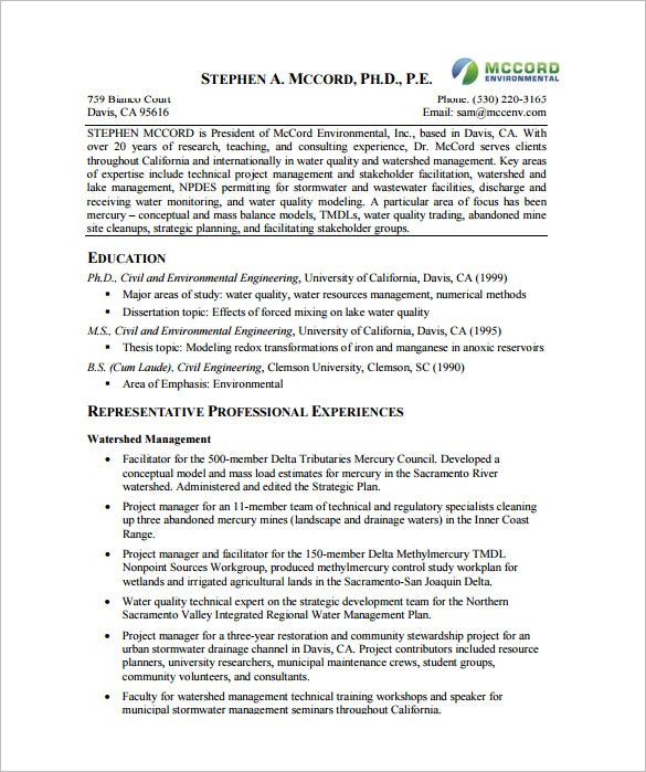 project manager resume template 10 free word excel pdf format