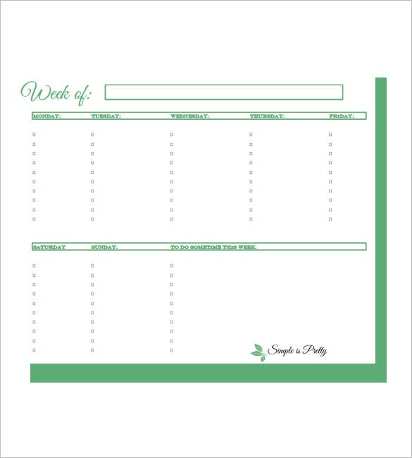 Weekly To Do List Template   Free Word Excel Pdf Format