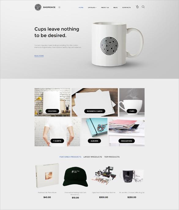 Printing Mug Store VirtueMart Template