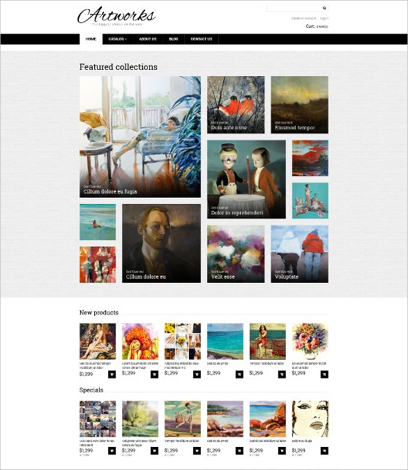 Artwork Store VirtueMart Template