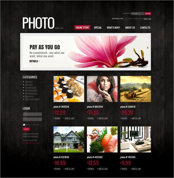 Photo Art VirtueMart Template