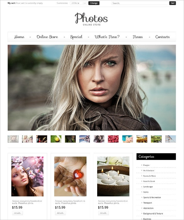 Photography Art VirtueMart Template