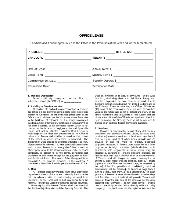 office lease termination letter sample