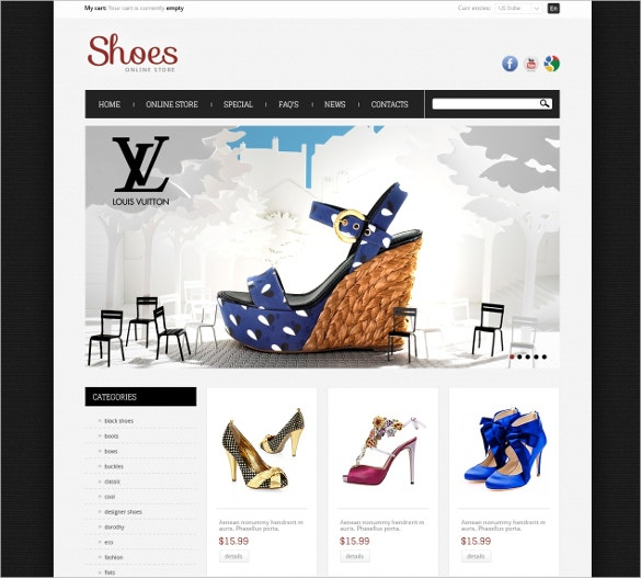 Shoes Store OsCommerce Template