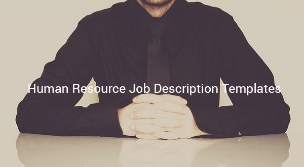 humanresourcejobdescriptiontemplate