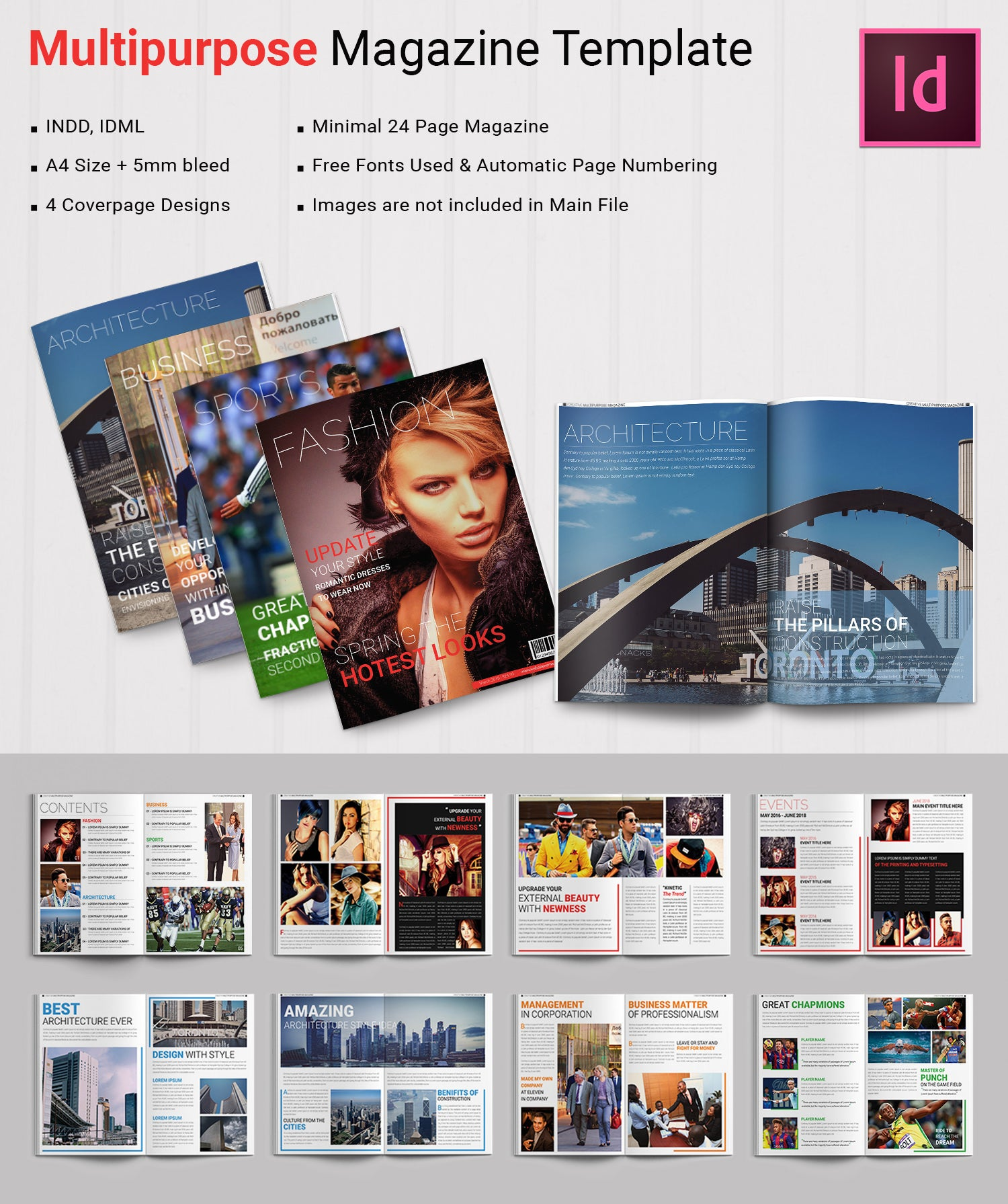 Multi purpose Magazine Design Template