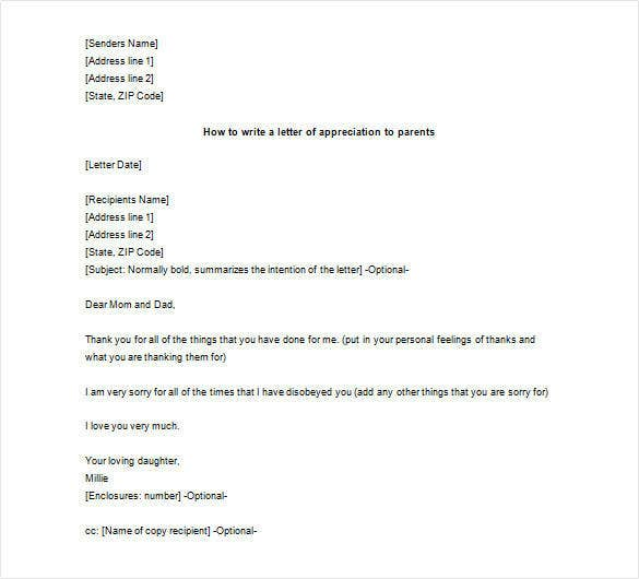 How To Write Appreciation Letter  Template