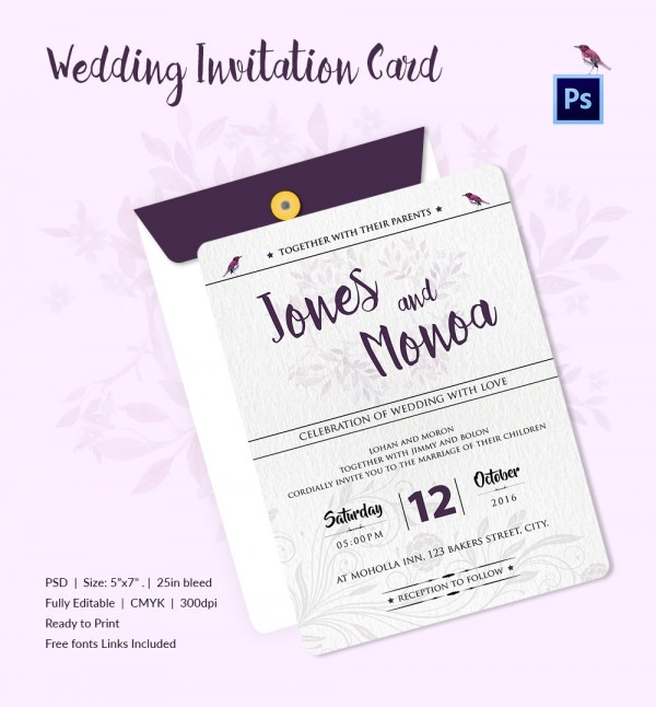 Wedding invitation word format matik for for Sample wedding invitations pdf