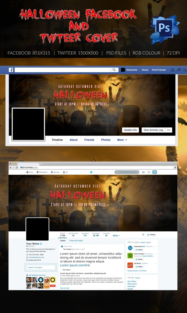 Dangerous Halloween Twitter Layout