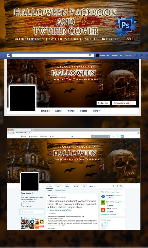 Mysterious Halloween Facebook Layout