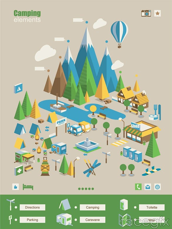 creative camp infographic elements for free
