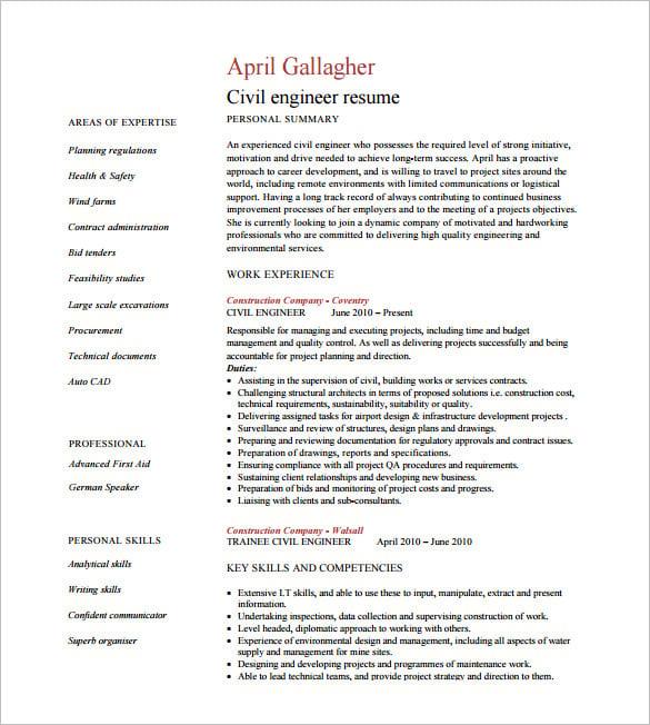 electrical engineer resume in word format