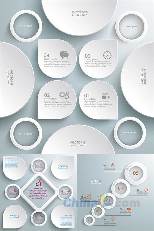 white creative infographic vector for free