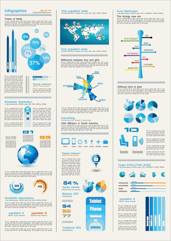 chart of free infographic design elements