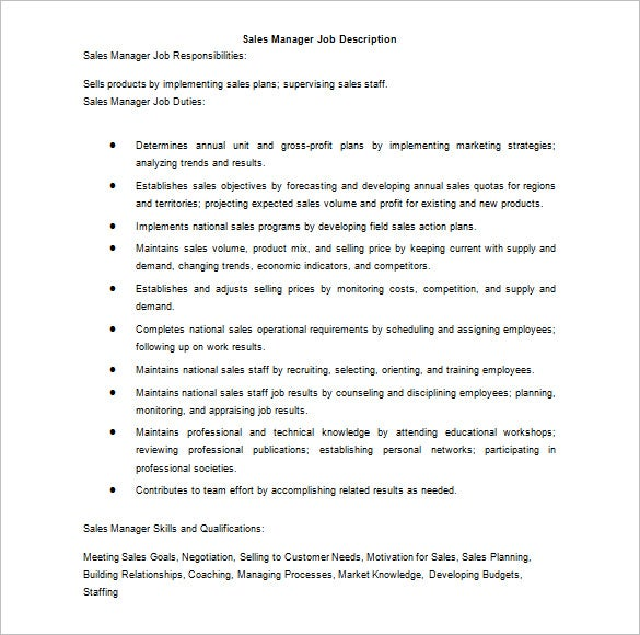 Job Description Template Job Description Template  Google Search