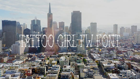 tattoo girl fw font for free