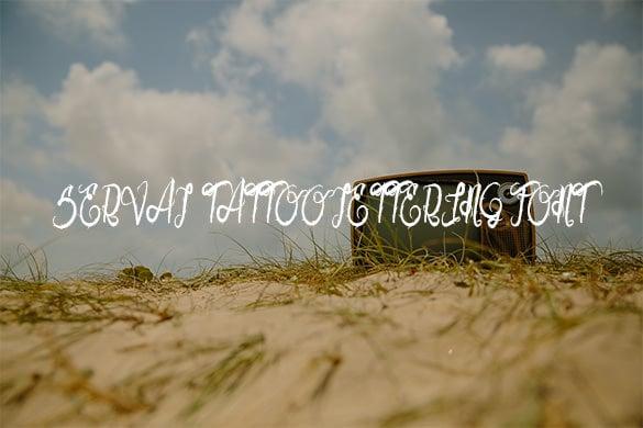 serval tatoo letterning font free download