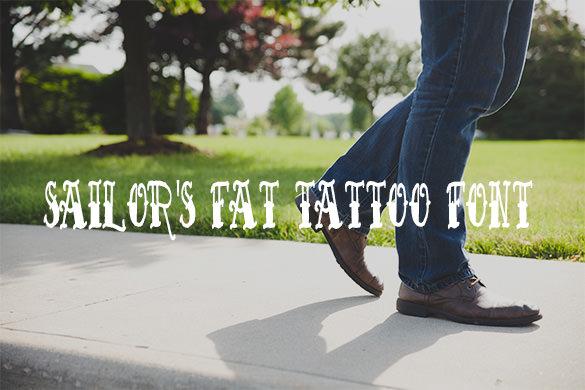 sailors fat tattoo letterning script font