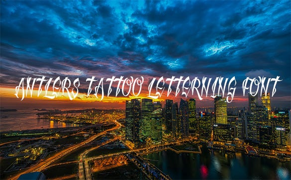 antlers tattoo letterning font for free