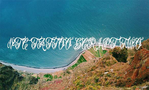 vtc tattoo script lettering font