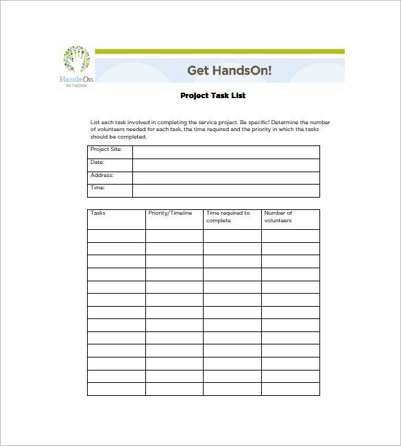 Givingdayplaybook.org | Project Management Task List Template Is A Example  Of How Oneu0027s Task List Must Be. The Format Mentioned Here Is Quite  Appealing To ...