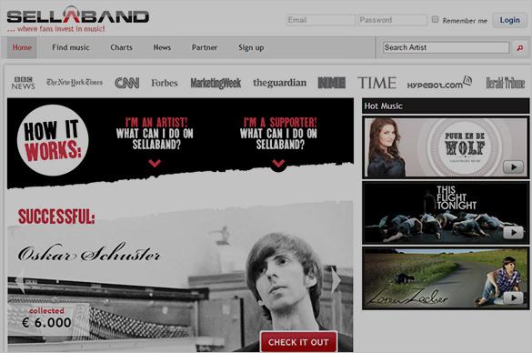 Amazing Crownfunding Site Sellaband