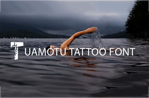 tuamotu free tattoo lettering font