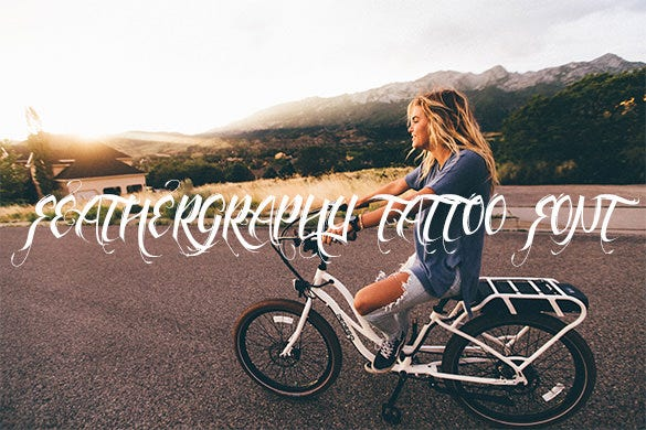 feathergraphy decoration tattoo lettering font