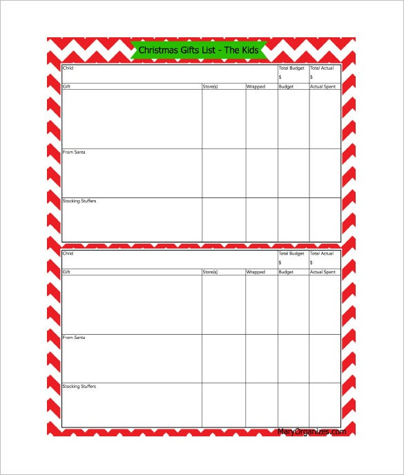 Email List Template 10 Free Word Excel PDF Format Download – Christmas Checklist Template