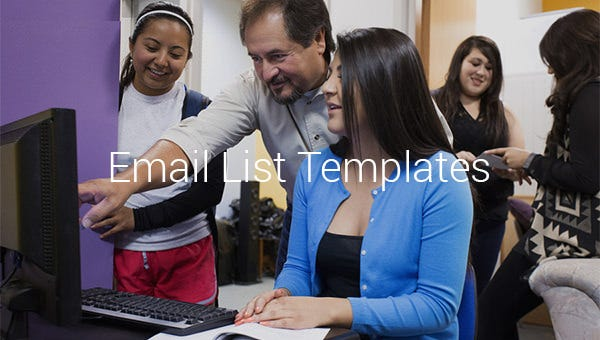 email list templates