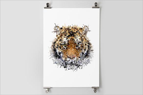 sumatran tiger pointillism art