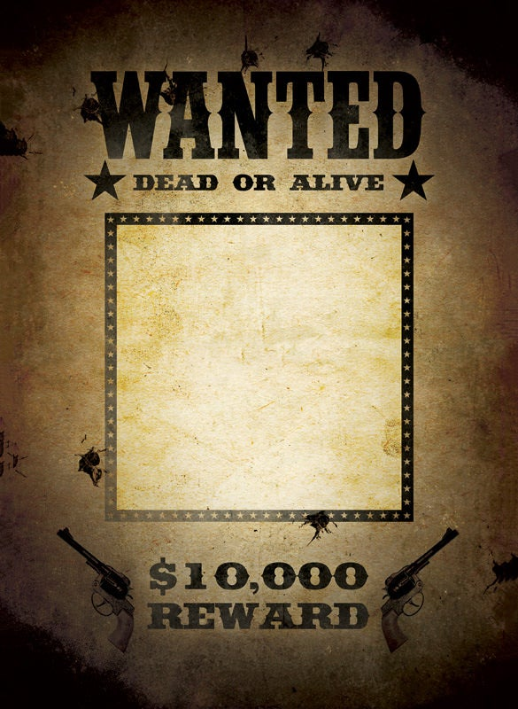 blank template wanted poster psd download